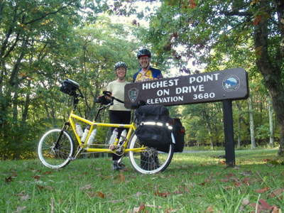 Fun on a Tandem, Blue Ridge Mountains, Virginia.