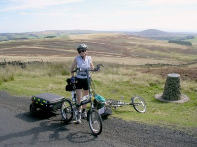 Touring with a Trailer, Summit: Lammermuir Hills, Scotland.