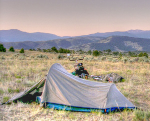 Public/Open Camping in Routt National Forest, above Radium, Colorado